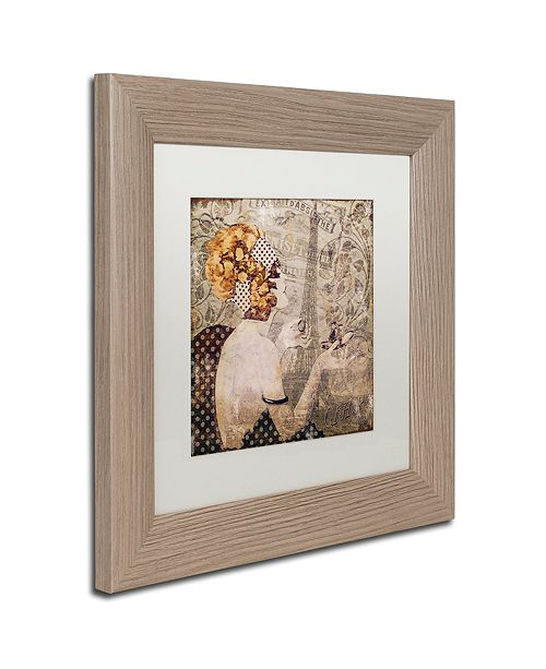 "Trademark Global Color Bakery 'A Date With Paris' Matted Framed Art, 11"" x 11"""