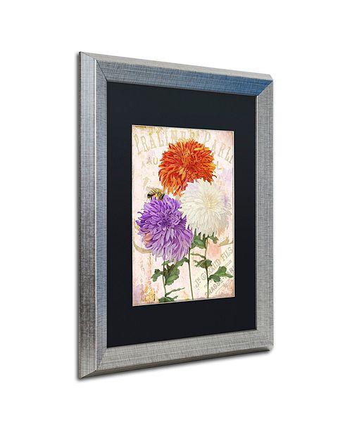 "Trademark Global Color Bakery 'Chrysanthemums' Matted Framed Art, 16"" x 20"""