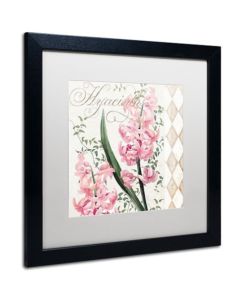 "Trademark Global Color Bakery 'Hyacinth' Matted Framed Art, 16"" x 16"""