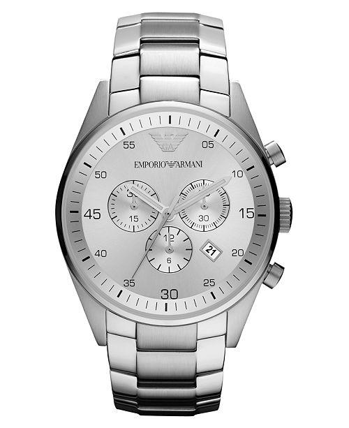 Watch, Women's Chronograph Stainless Steel Bracelet 43mm AR5963