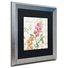 """Color Bakery 'Sweet Pea' Matted Framed Art, 16"""" x 16"""""""