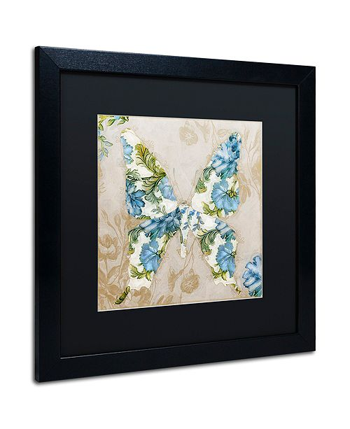 "Trademark Global Color Bakery 'Winged Tapestry I' Matted Framed Art, 16"" x 16"""