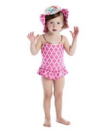 Masala Baby Baby Girl's Ruffled One Piece Jali Ikat