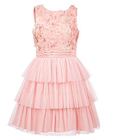 Nanette Lepore Big Girls 3D Flower Mesh Dress