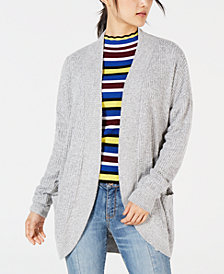 Hippie Rose Juniors' Waffled Cocoon Cardigan