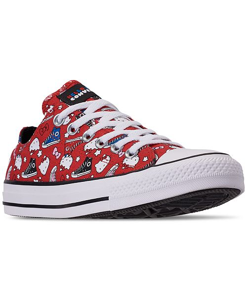 90f15f92cac6e9 ... Converse Unisex Chuck Taylor Low Hello Kitty Casual Sneakers from  Finish Line ...