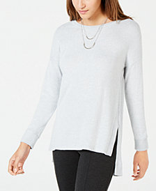 BCX Juniors' High-Low Tunic Sweater with Necklace