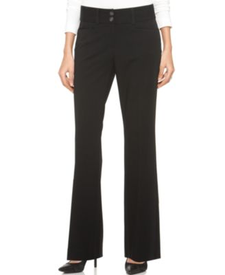 Image of Alfani Two-Button Curvy-Fit Pants, Created for Macy's