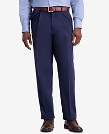 Men's W2W PRO Relaxed-Fit Performance Stretch Non-Iron Pleated Casual Pants