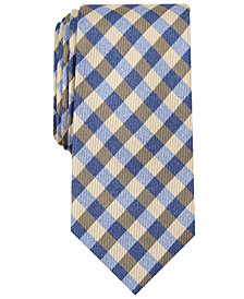 Nautica Men's Lanier Plaid Slim Silk Tie
