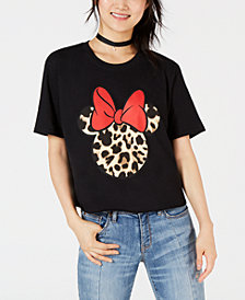 Hybrid Juniors' Disney® Leopard-Print Minnie Mouse Graphic T-Shirt