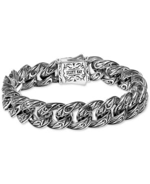 SCOTT KAY Men'S Sparta Medium Link Bracelet In Sterling Silver & 18K Gold