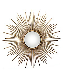 Two's Company Sunburst Plain Glass Wall Mirror