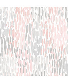 Blush Make It Rain Peel And Stick Wallpaper