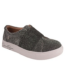 Pewter Sparkle Stretch Sneaker