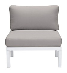 Santorini Armless Chair Wht & Gry