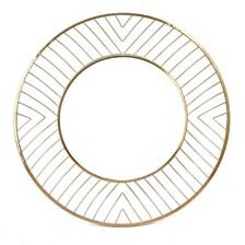 Avila Sm Round Mirror Gold