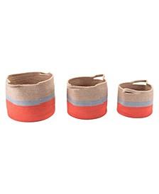 Ilesa Baskets with Handles, Set of 3