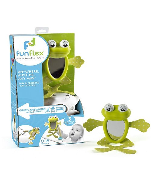 Fun Flex Best Award Winning 3 In 1 Infant Baby Frog Mirror Activity