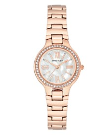 Genuine Mother of Pearl Dial with Roman Numerals and Swarovski Crystals Watch