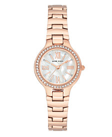 Genuine Mother of Pearl Dial with Roman Numerals and Swarovski Crystals