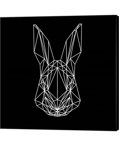 Metaverse Rabbit on Black by Lisa Kroll