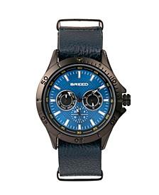 Quartz Dixon Blue Genuine Leather Watches 43mm