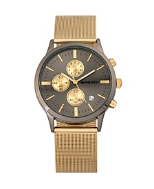Quartz Espinosa Chronograph Gold And Gunmetal Alloy Watches 42mm