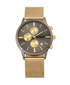 Breed Quartz Espinosa Chronograph Gold And Gunmetal Alloy Watches 42mm