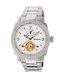 Automatic Helmsley Silver & White Stainless Steel Watches 45mm