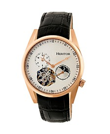 Automatic Alexander Rose Gold & White Leather Watches 43mm