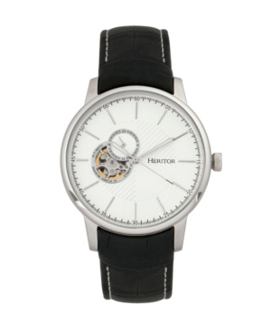 Automatic Landon Silver Leather Watches 44mm