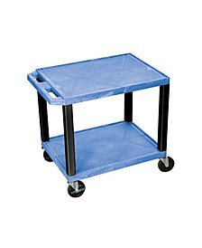"26""H Tuffy AV Cart with 2 Shelf, Electric - Blue/Nickel Legs OF-WT26BUE-N"