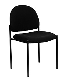 Offex Vinyl Comfortable Stackable Steel Side Chair