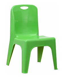 Offex Plastic Stackable School Chair with Carrying Handle