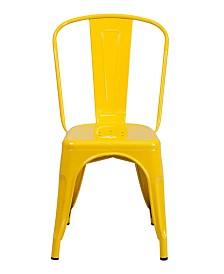 Clickhere2shop Metal Indoor-Outdoor Stackable Bistro Style Chair