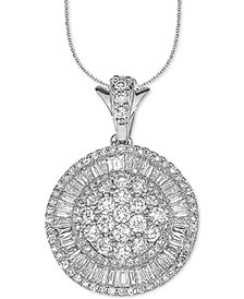 "Diamond Ballerina 18"" Pendant Necklace (2 ct. t.w.) in 14k White Gold"