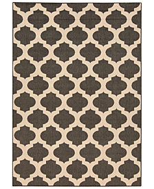 "Surya Alfresco ALF-9584 Black 5'3"" x 7'6"" Area Rug"
