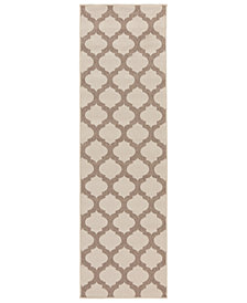 "Surya Alfresco ALF-9586 Cream 2'3"" x 11'9"" Runner Area Rug"