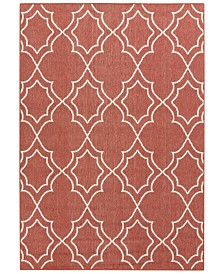 "Surya Alfresco ALF-9591 Rust 2'3"" x 4'6"" Area Rug, Indoor/Outdoor"