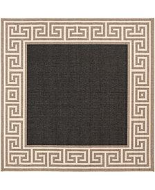 "Surya Alfresco ALF-9626 Black 8'9"" Square Area Rug"