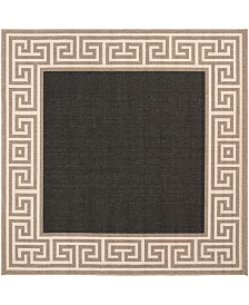 "Surya Alfresco ALF-9626 Black 8'9"" Square Area Rug, Indoor/Outdoor"
