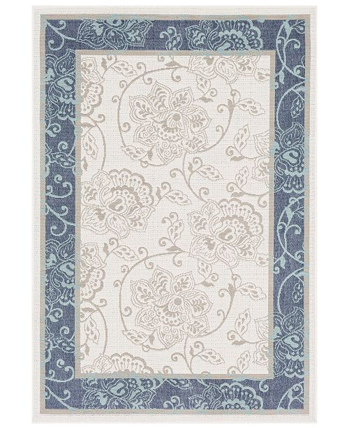 "Surya Alfresco ALF-9661 Charcoal 5'3"" x 7'6"" Area Rug, Indoor/Outdoor"