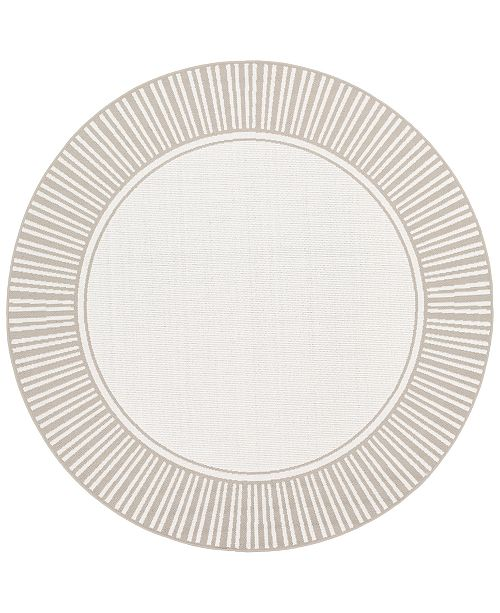 "Surya Alfresco ALF-9681 Taupe 8'9"" Round Area Rug, Indoor/Outdoor"