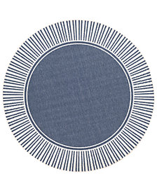 "Surya Alfresco ALF-9682 Charcoal 7'3"" Round Area Rug"