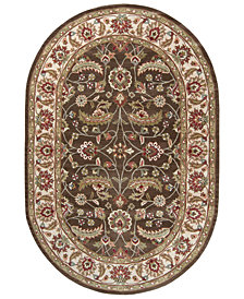 Surya Caesar CAE-1003 Dark Brown 8' x 10' Oval Area Rug