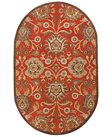 Surya Caesar CAE-1062 Burnt Orange 8' x 10' Oval Area Rug