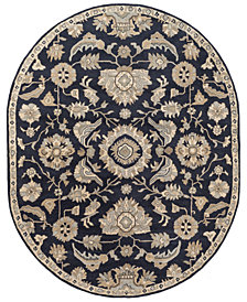 Surya Caesar CAE-1164 Ink 6' x 9' Oval Area Rug