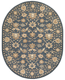 Surya Caesar CAE-1180 Dark Green 8' x 10' Oval Area Rug