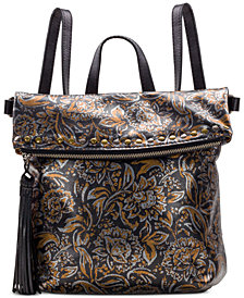 Patricia Nash Tricolor Metallic Luzille Convertible Backpack